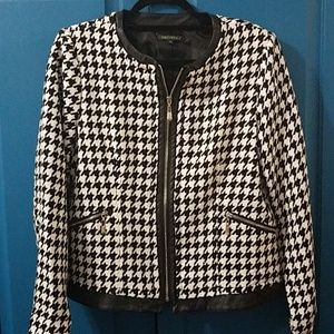 For Cynthia houndstooth print jacket